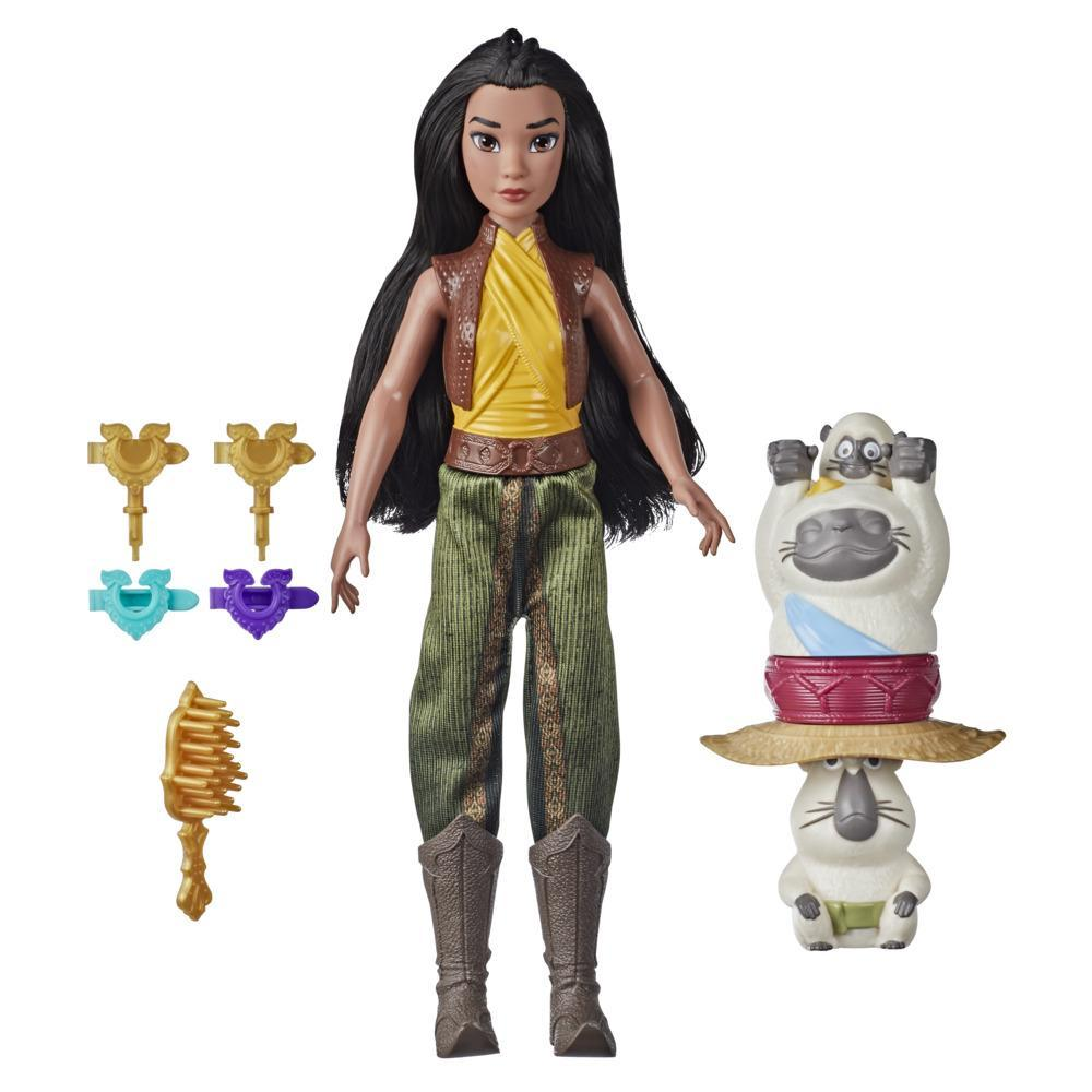 Disney's Raya and the Last Dragon Strength and Style Set Fashion Doll, Hair Twisting Tool, Toy for 5 Year Old Kids