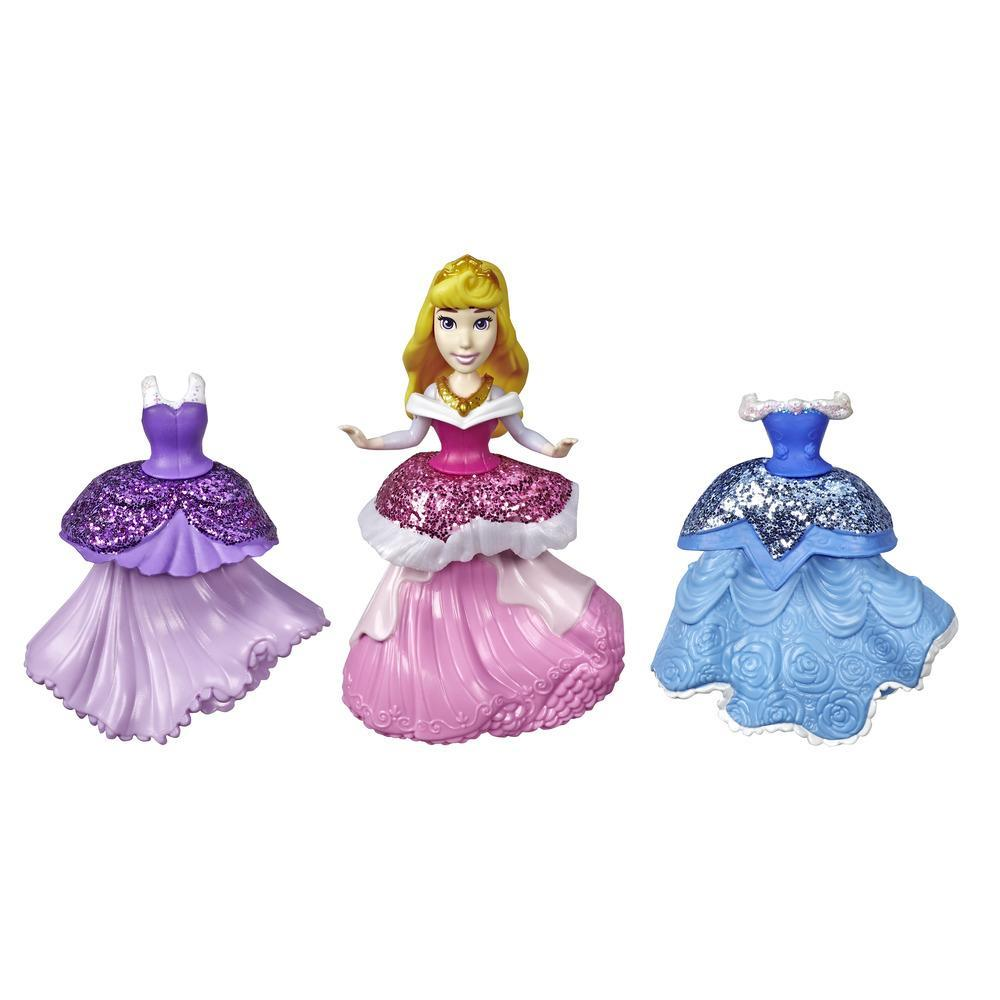 Disney Princess Aurora Collectible Doll With 3 Glittery One-Clip Dresses, Royal Clips Fashion Toy