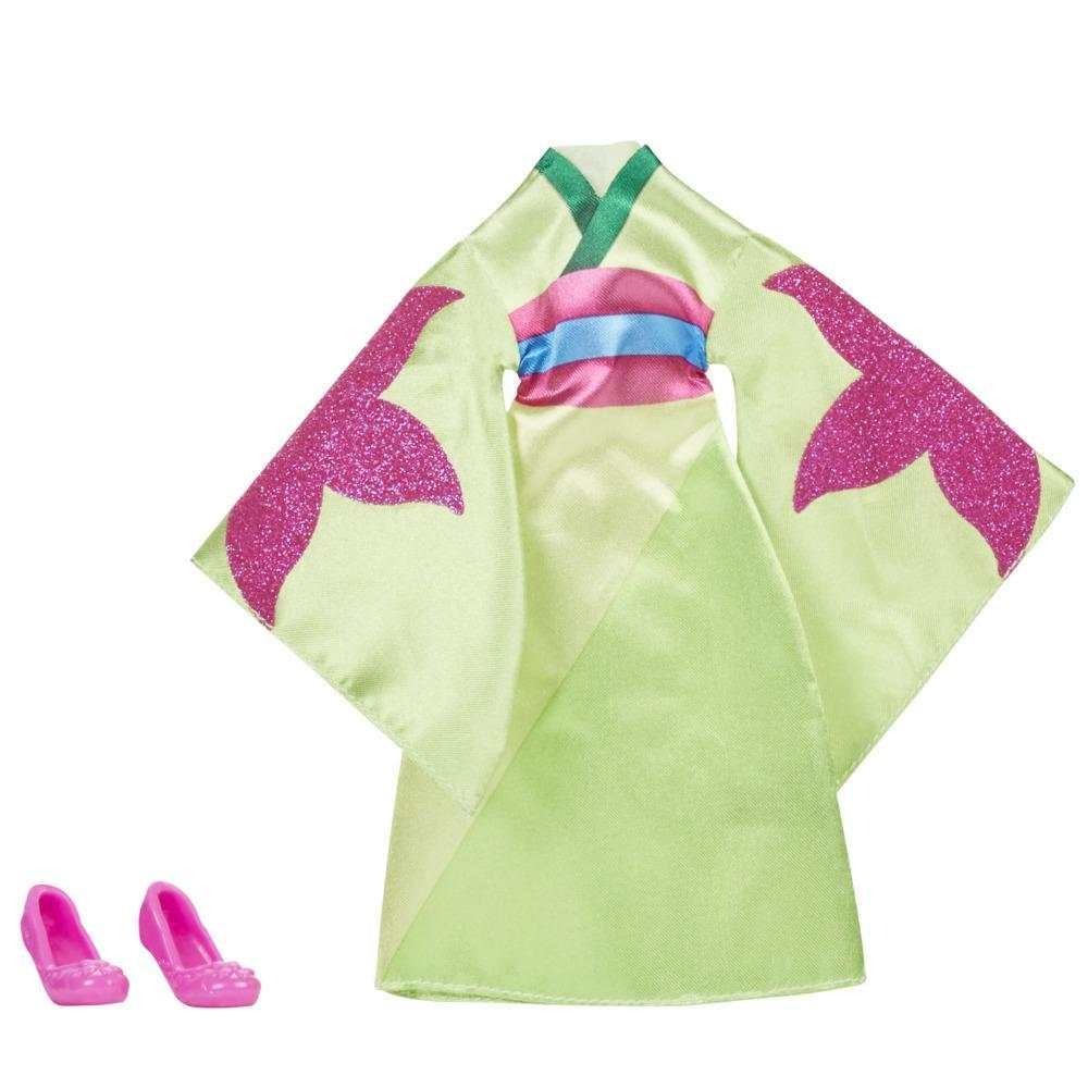 Disney Princess Be Bright, Be Bold Mulan Fashion Pack, Green Dress and Red Shoes for Disney Princess Fashion Doll Toy
