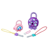 Lock Stars Basic Assortment Purple Monster with Eyes -- Series 1