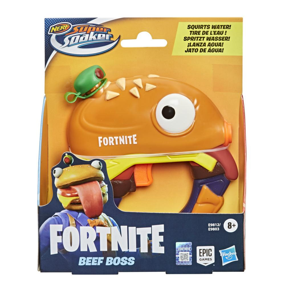 Nerf Super Soaker Fortnite Beef Boss Water Blaster -- Fortnite Beef Boss Character Design -- Easy-To-Carry Micro Size