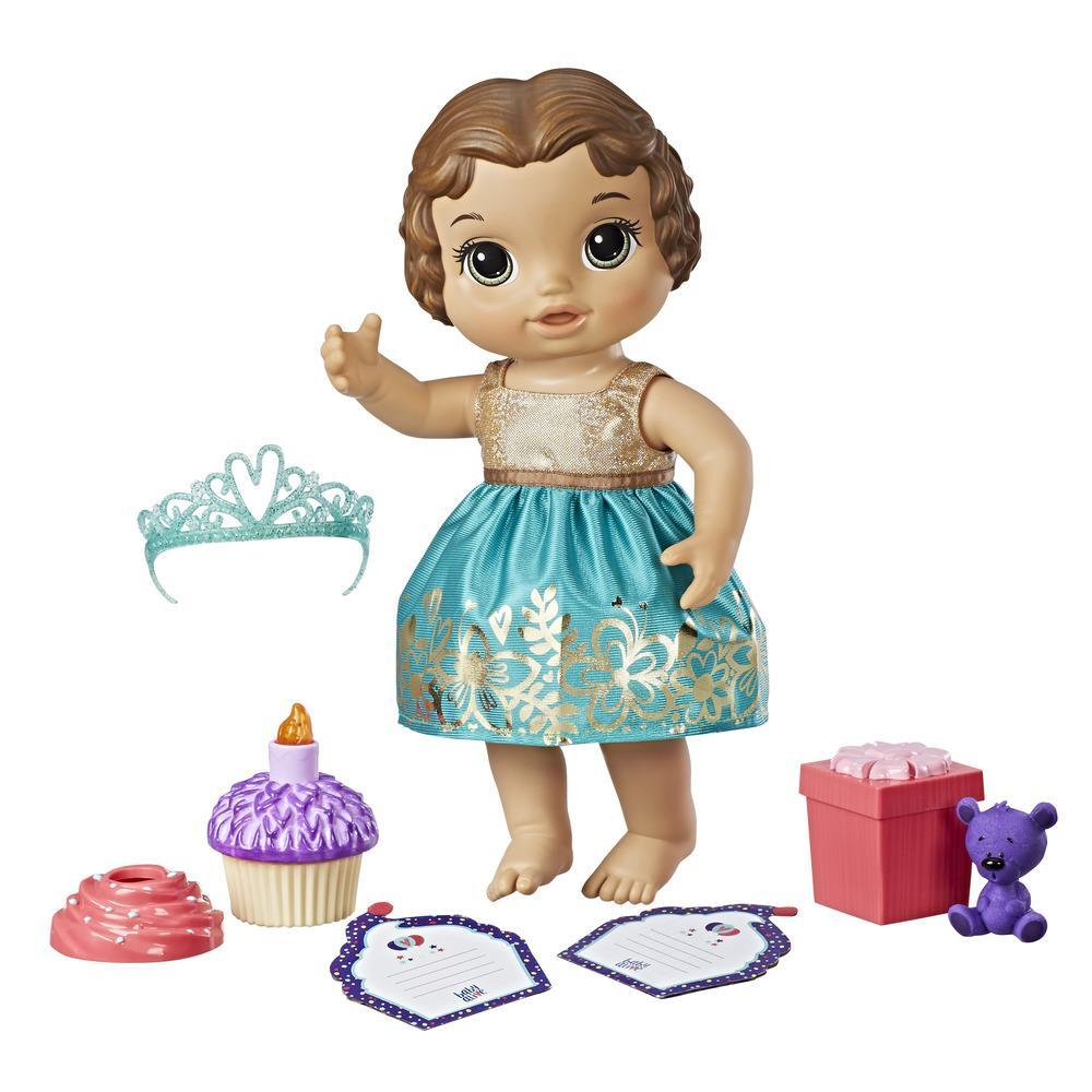 Baby Alive Cupcake Birthday Baby - Brown Sculpted Hair