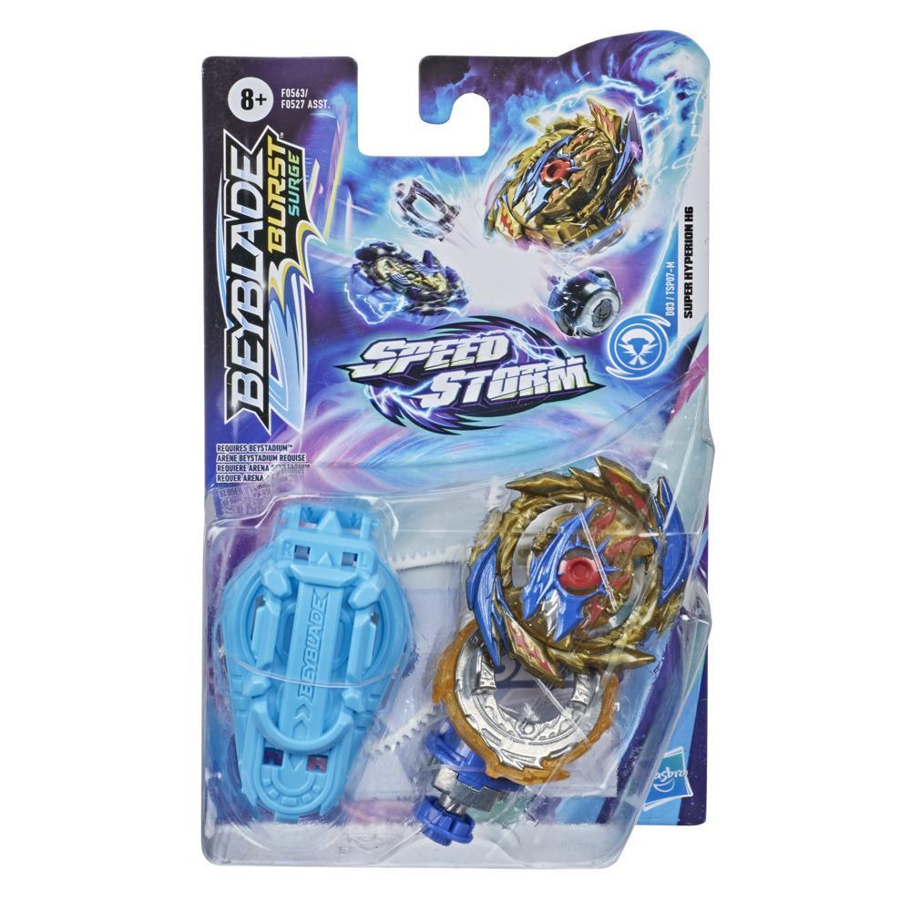 Beyblade Burst Surge Speedstorm Super Hyperion H6 Spinning Top Starter Pack -- Battling Game Top Toy with Launcher