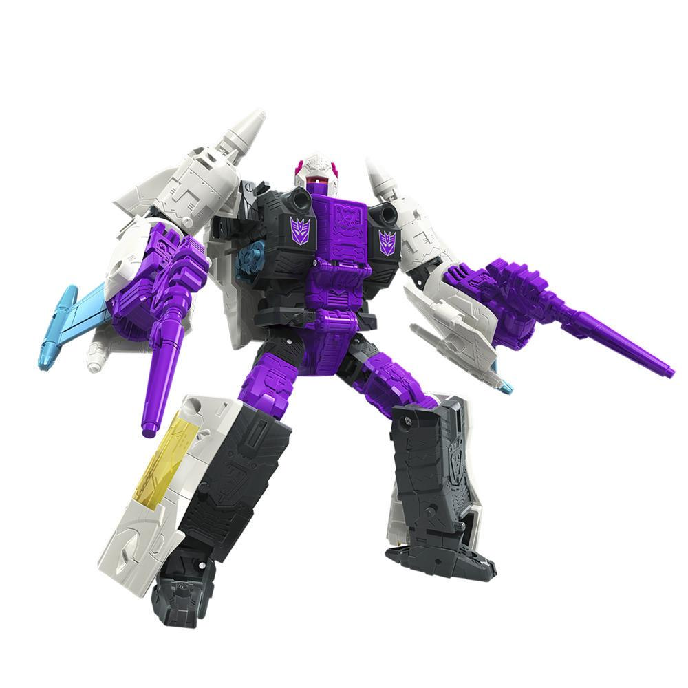 Transformers Toys Generations War for Cybertron: Earthrise Voyager WFC-E21 Decepticon Snapdragon Triple Changer Action Figure
