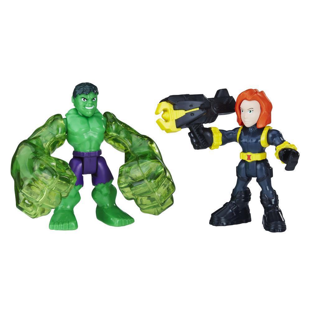 Playskool Heroes Marvel Super Hero Adventures Hulk and Marvel's Black Widow