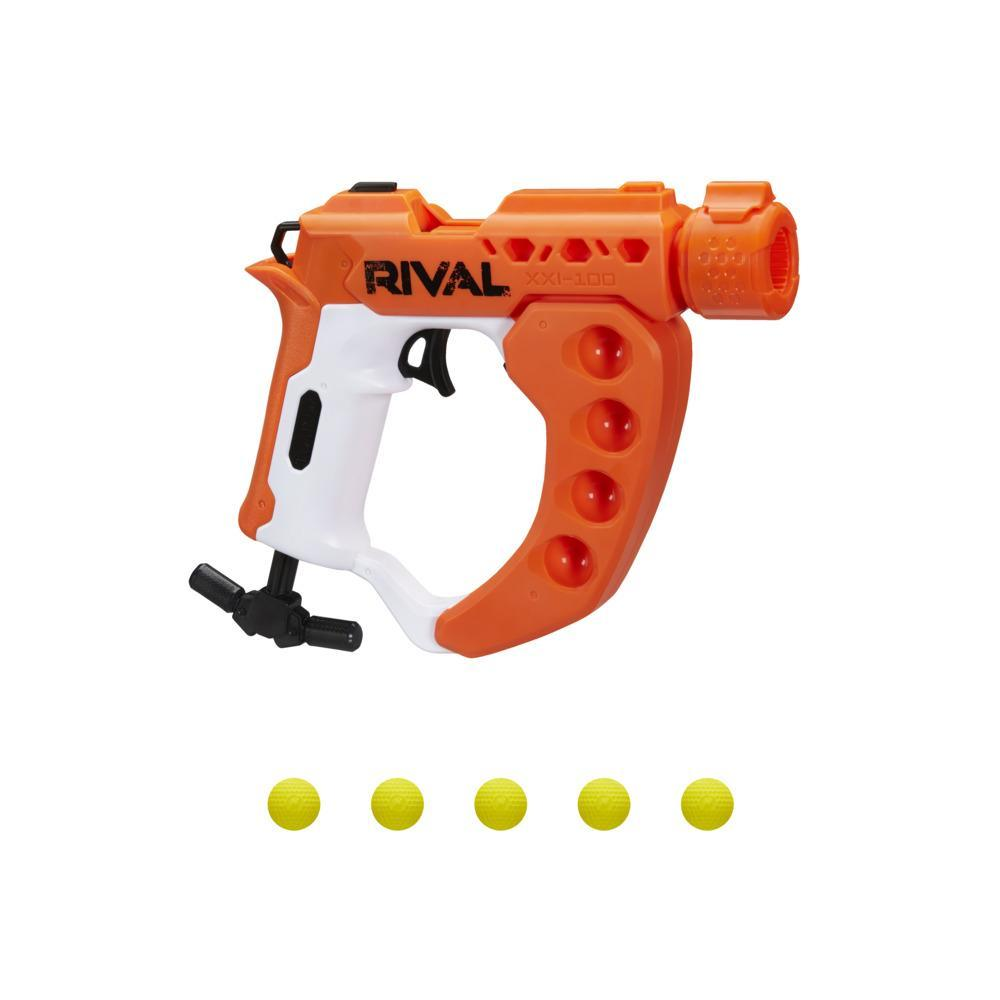 Nerf Rival Curve Shot -- Flex XXI-100 Blaster -- Fire Rounds to Curve Left, Right, Downward or Fire Straight