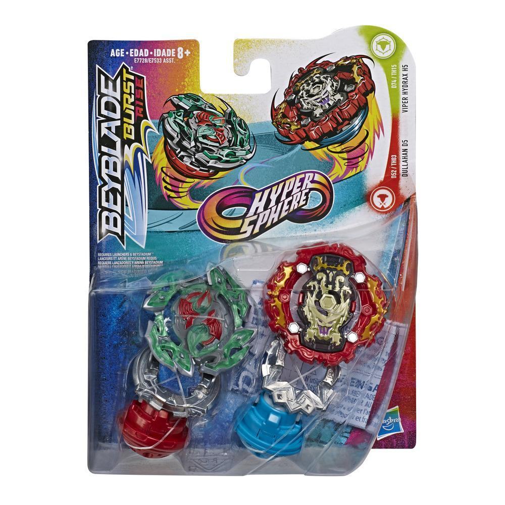 Beyblade Burst Rise Hypersphere Dual Pack Viper Hydrax H5 Left-Spin and Dullahan D5 Right-Spin Battling Top Toys