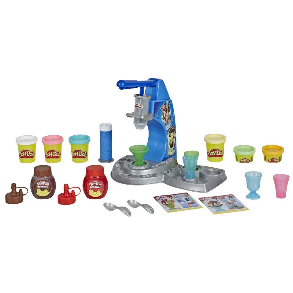 Play-Doh Kitchen Creations Drizzy Ice Cream Playset Featuring Drizzle Compound and 6 Non-Toxic Play-Doh Colors