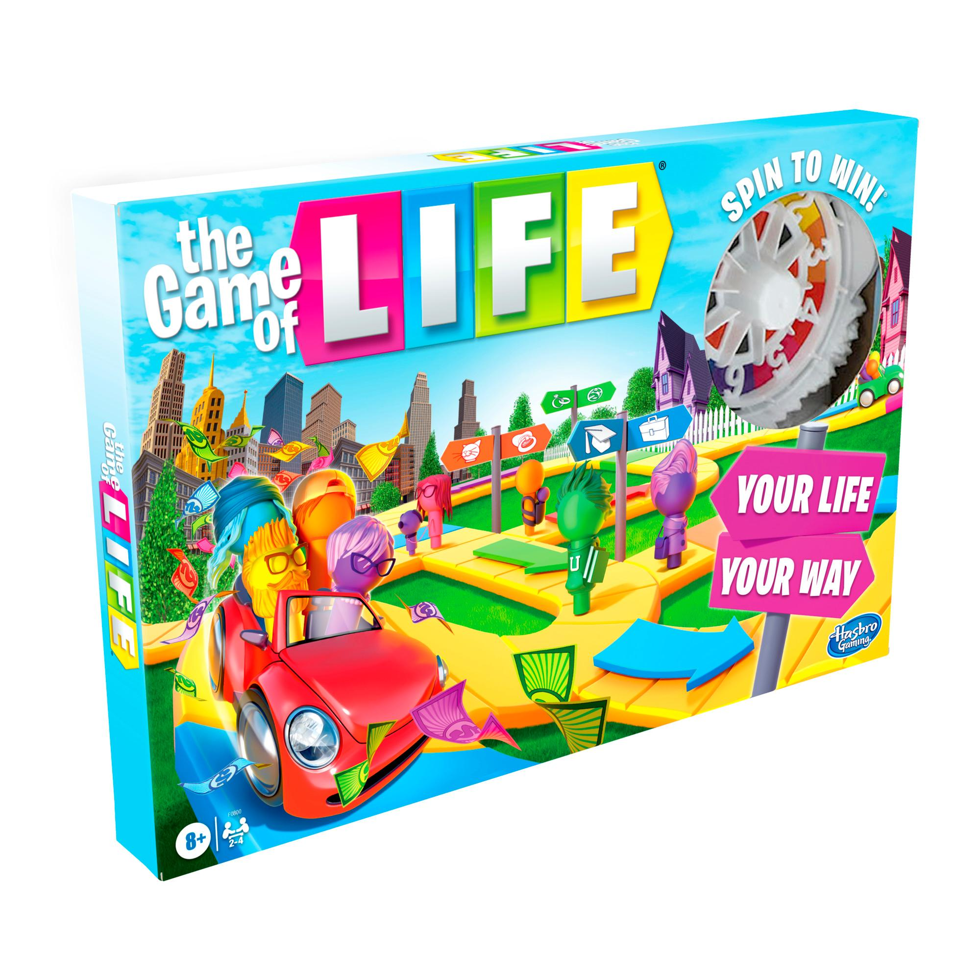 The Game of Life Game, Family Board Game for 2 to 4 Players, for Kids Ages 8 and Up, Includes Colorful Pegs