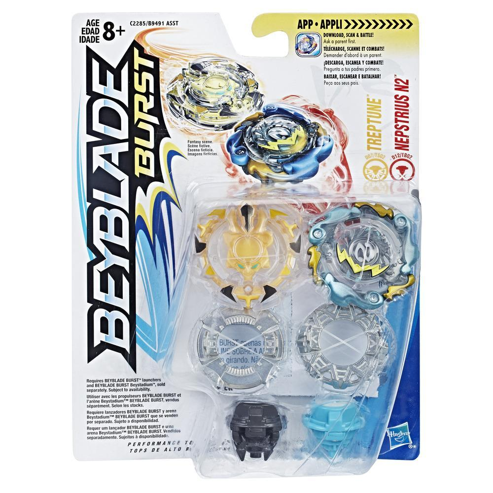 Beyblade Burst Dual Pack Treptune and Nepstrius N2
