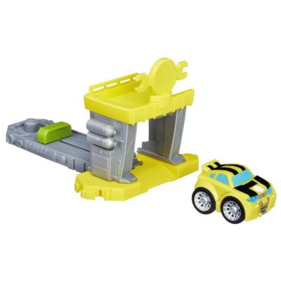 Playskool Heroes Transformers Rescue Bots Flip Racers Bumblebee Quick Launch Garage