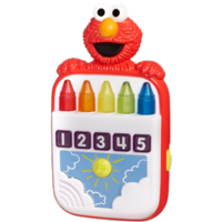 SESAME STREET PLAYSKOOL STEPS TO SCHOOL Elmo's Count Along Crayons Toy
