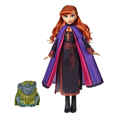 Disney Frozen Anna and Pabbie, Fashion Doll and Friend, With Long Hair and Stylish Outfit Inspired by Frozen 2