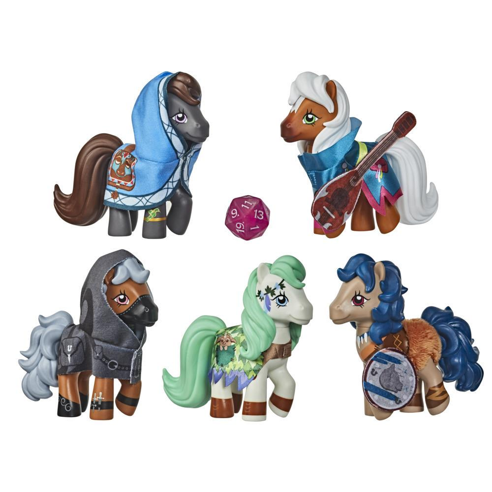 My Little Pony x Dungeons & Dragons Crossover Collection Cutie Marks & Dragons -- 5 Pony Figures, Exclusive D20