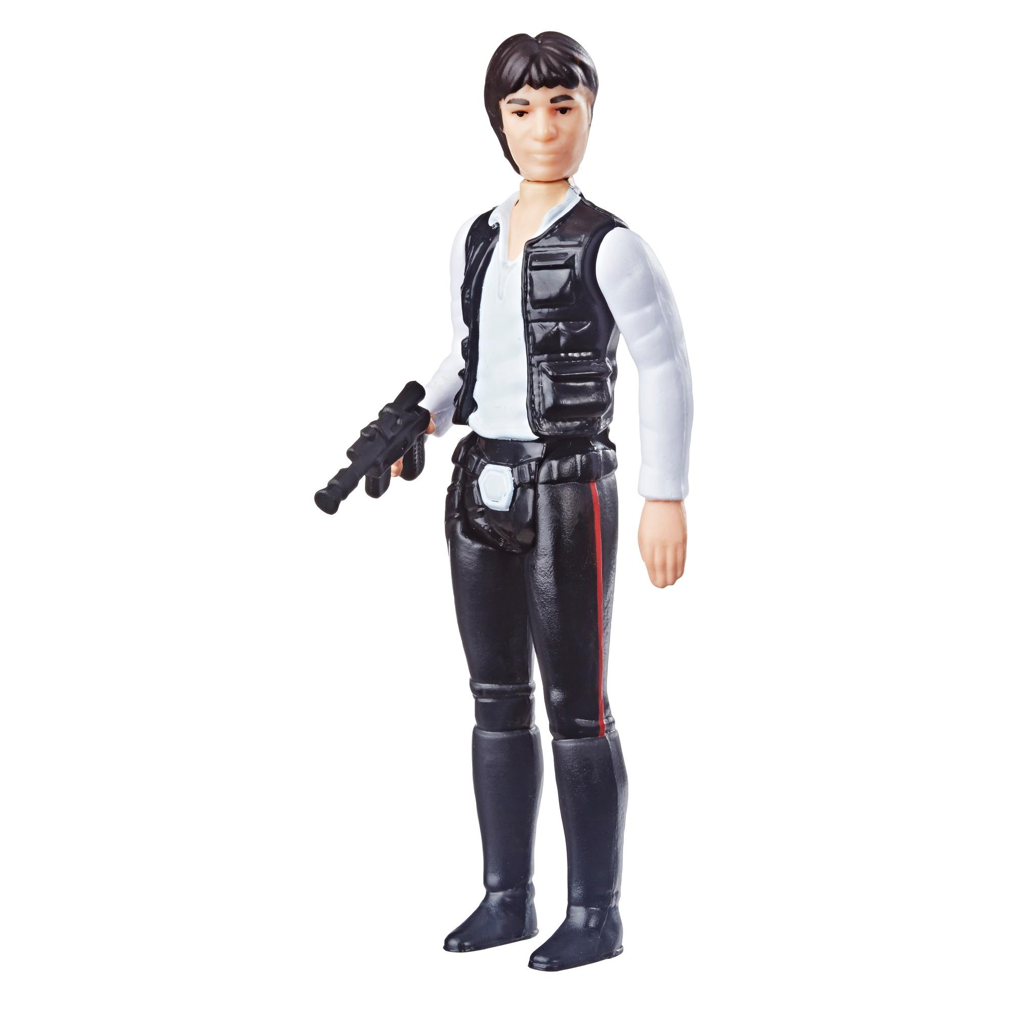 Star Wars Retro Collection Episode IV: A New Hope Han Solo 3.75-Inch-Scale Action Figure Toy – Inspired by Classic 1970s-Sculpt and Packaging Collectible Star Wars Figure