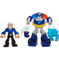 PLAYSKOOL HEROES TRANSFORMERS RESCUE BOTS Energize Chase the Police-Bot & Chief Charlie Burns Figure Pack