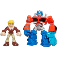 PLAYSKOOL HEROES TRANSFORMERS RESCUE BOTS Energize Optimus Prime & Cody Burns Figure Pack