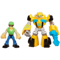 PLAYSKOOL HEROES TRANSFORMERS RESCUE BOTS Energize Bumblebee & Graham Burns Figure Pack
