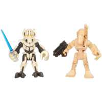 PLAYSKOOL HEROES STAR WARS JEDI FORCE General Grievous and Battle Droid Figure 2 Pack
