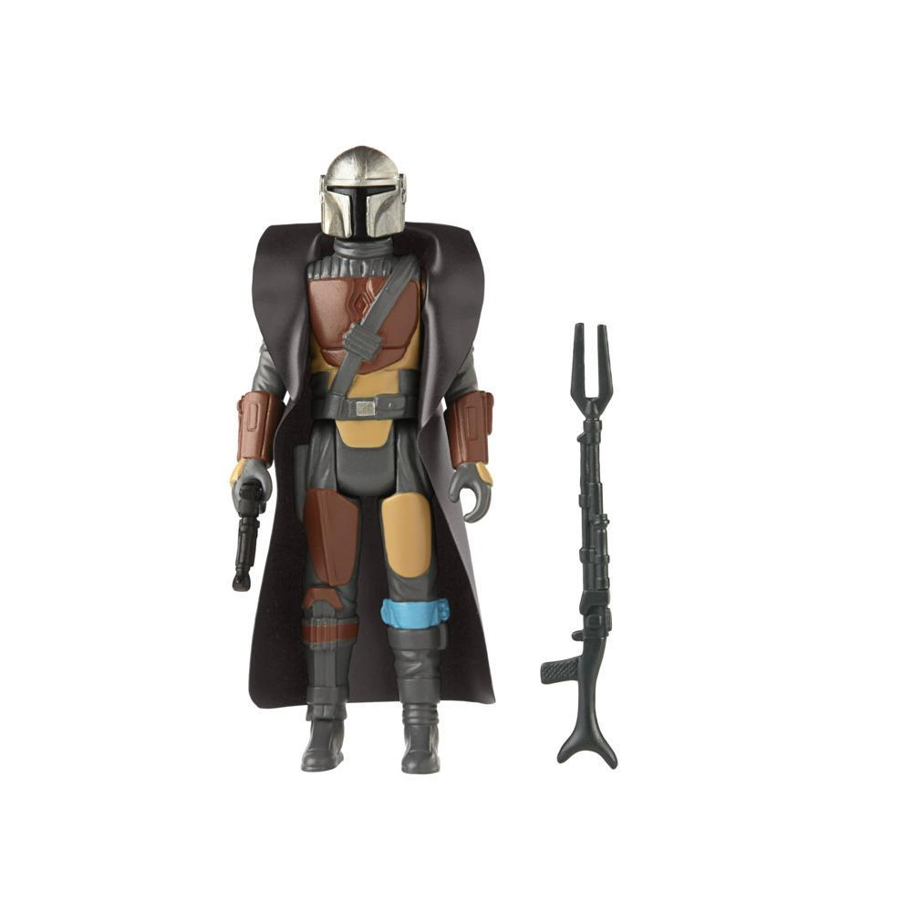 Star Wars Retro Collection The Mandalorian Toy 3.75-Inch-Scale Collectible Action Figure, Toys for Kids Ages 4 and Up