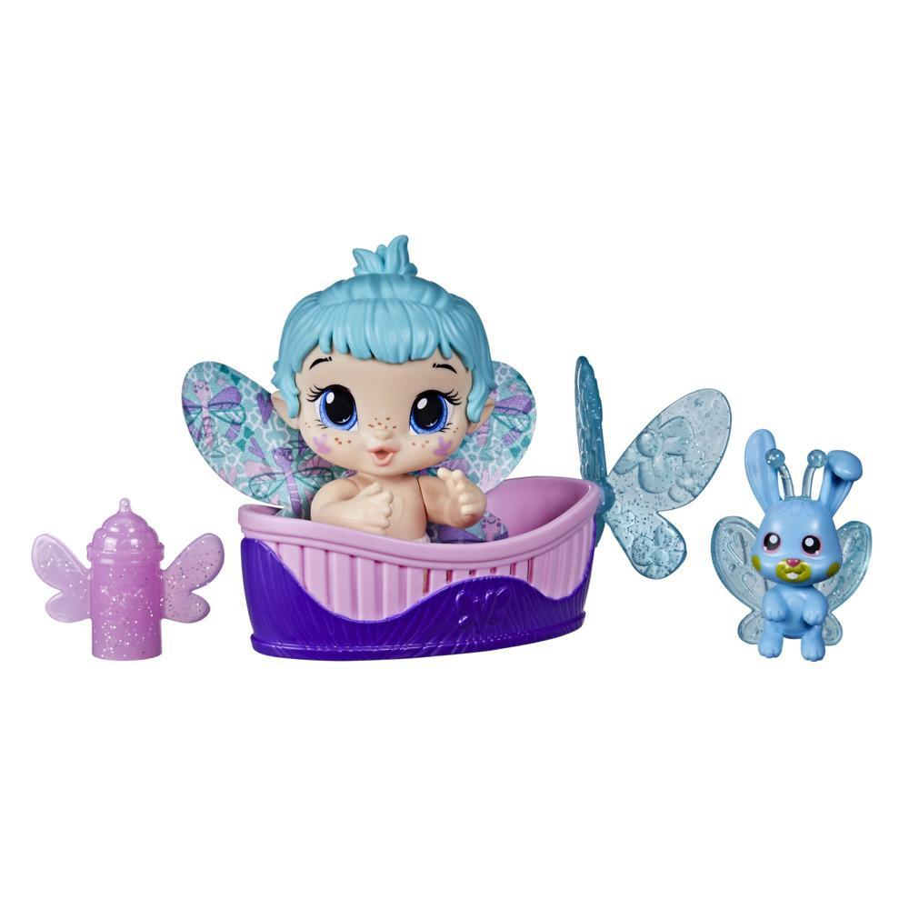 Baby Alive GloPixies Minis Doll, Aqua Flutter, Glow-In-The-Dark 3.75-Inch Pixie Toy with Surprise Friend, Kids 3 and Up