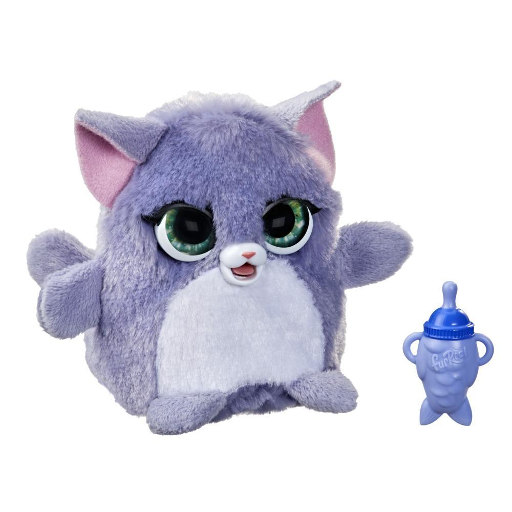 furReal Fuzzalots Kitty Color-Change Interactive Feeding Toy, Ages 4 and up