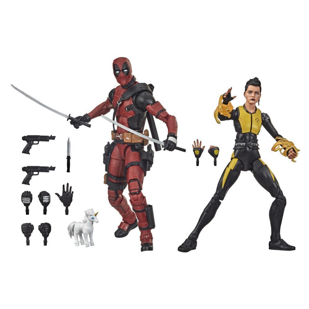 Hasbro Marvel Legends Series 6-inch Collectible Premium Deadpool & Negasonic Teenage Warhead Action Figure Toys