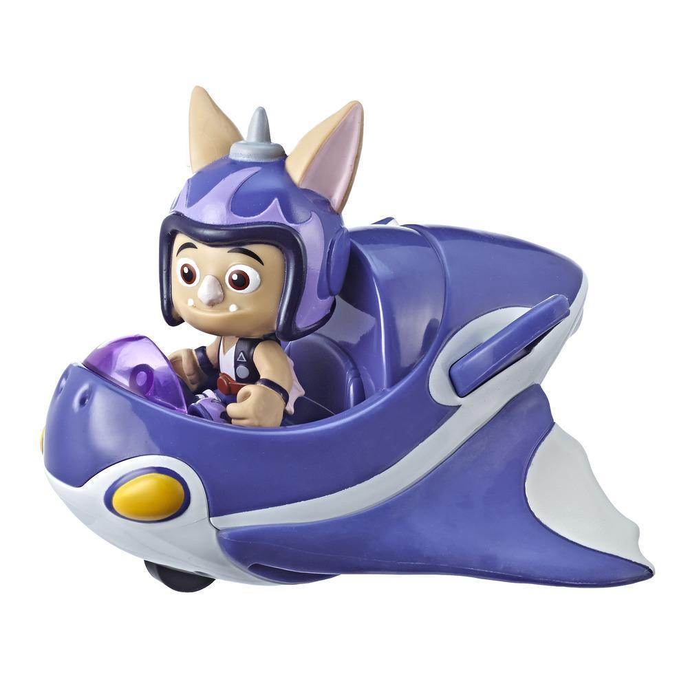 Top Wing Figure and Vehicle Baddy McBat's Jet, Vehicle with Removable 3-Inch Figure from the Nick Jr. Show, Great Toy for Kids Ages 3 to 5