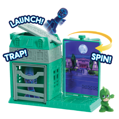 PJ Masks Night Time Micros Trap & Escape Playset - Gekko & Ninja