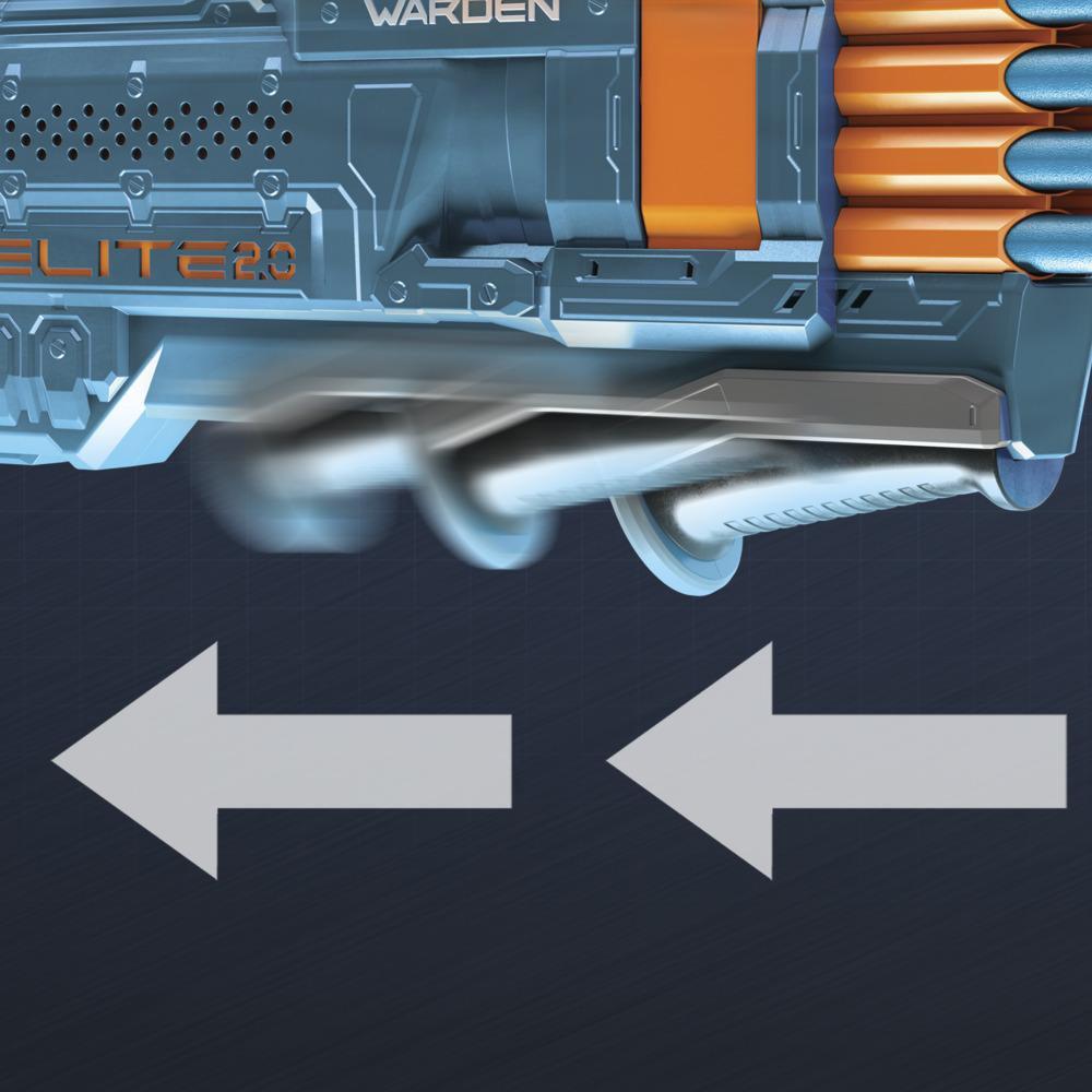 Nerf Elite 2.0 Warden DB-8 Blaster, 16 Official Nerf Darts, Blast 2 Darts At Once, Tactical Rail, Slam Fire