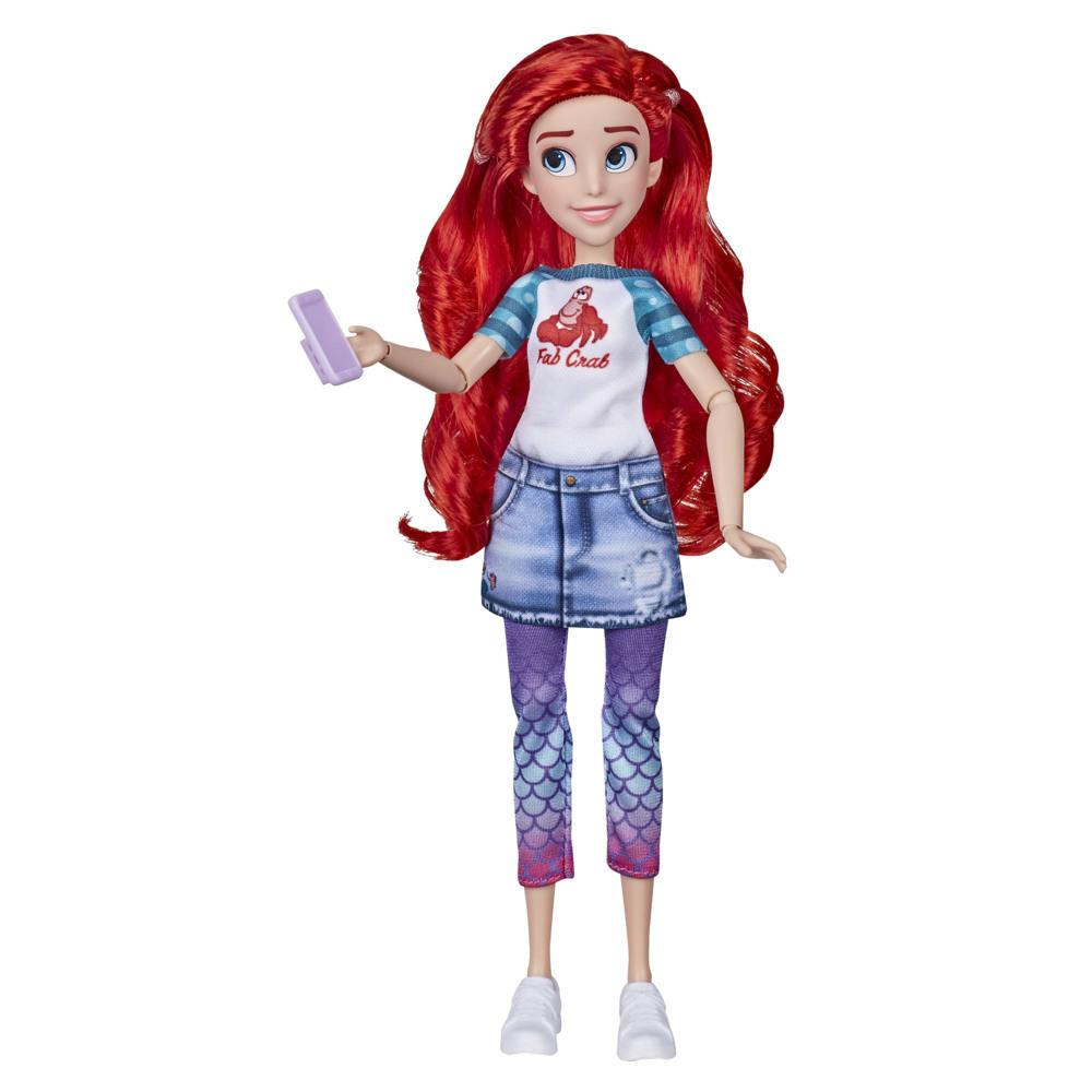 Disney Princess Comfy Squad Ariel, Ralph Breaks the Internet Movie Fashion Doll Toy with Comfy Clothes and Accessories