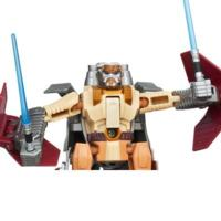 STAR WARS TRANSFORMERS OBI-WAN KENOBI to JEDI STARFIGHTER Figure