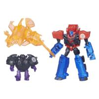 Transformers Robots in Disguise Decepticon Hunter Optimus Prime vs Decepticon Bludgeon Pack