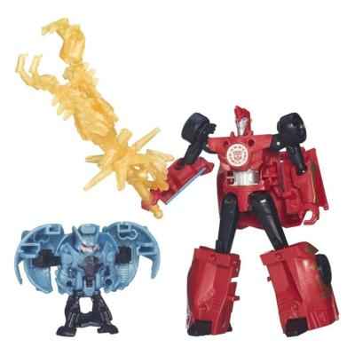Transformers Robots in Disguise Decepticon Hunter Sideswipe vs Mini-Con Decepticon Anvil Pack