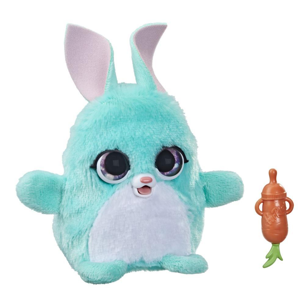 furReal Fuzzalots Bunny Interactive Animatronic Color-Change Toy, Lights and Sounds, for Kids Ages 4 and up