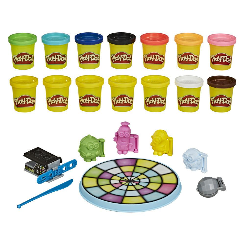 Play-Doh Minions: The Rise of Gru Disco Dance-Off Toy with 14 Non-Toxic Play-Doh Cans