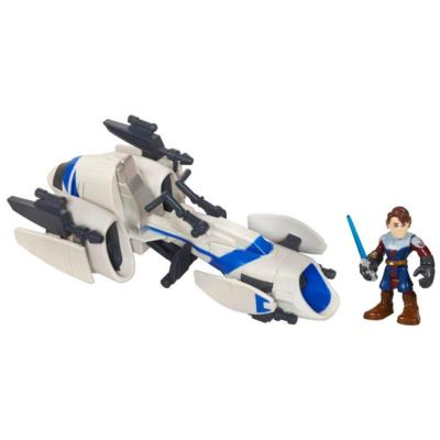 PLAYSKOOL HEROES STAR WARS JEDI FORCE Barc Speeder Bike with Anakin Skywalker