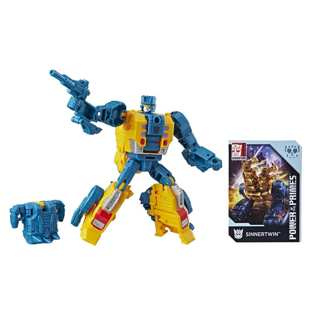 Transformers Generations Power of the Primes Deluxe Class Sinnertwin