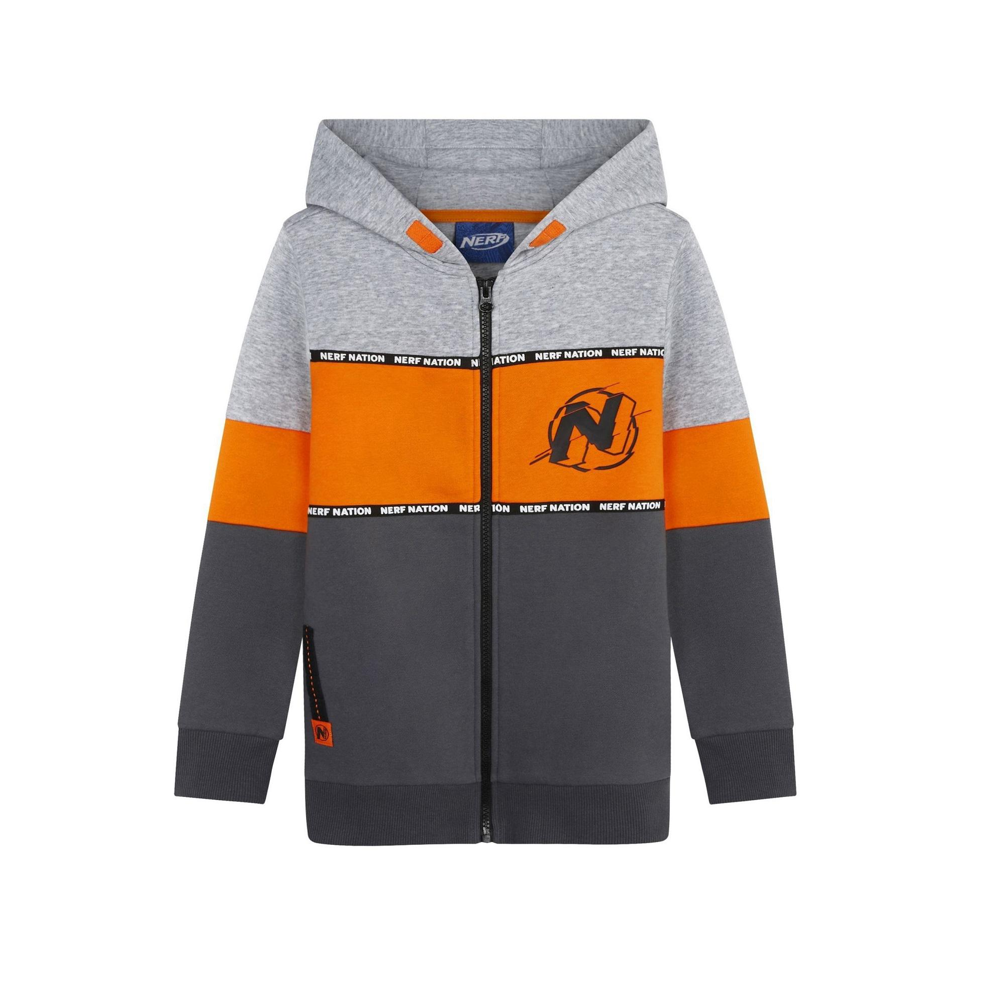 F&F Orange Nerf Zip Through Top