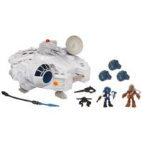 PLAYSKOOL HEROES STAR WARS JEDI FORCE Millennium Falcon with Han Solo and Chewbacca Playset