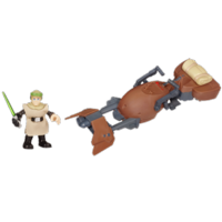 PLAYSKOOL HEROES STAR WARS JEDI FORCE Speeder Bike Vehicle with Luke Skywalker Figure