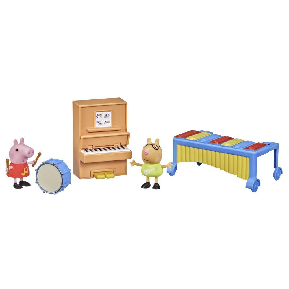 Peppa Pig Peppa's Adventures Peppa's Making Music Fun Preschool Toy, with 2 Figures and 3 Accessories, Ages 3 and Up