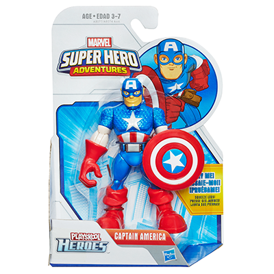 Playskool Heroes Marvel Super Hero Adventures Captain America Figure