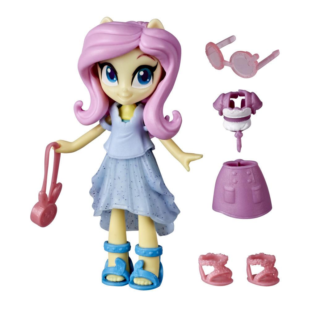 My Little Pony Equestria Girls Fashion Squad Fluttershy, 3-Inch Potion Mini Doll Toy with Outfit, Surprise Accessories
