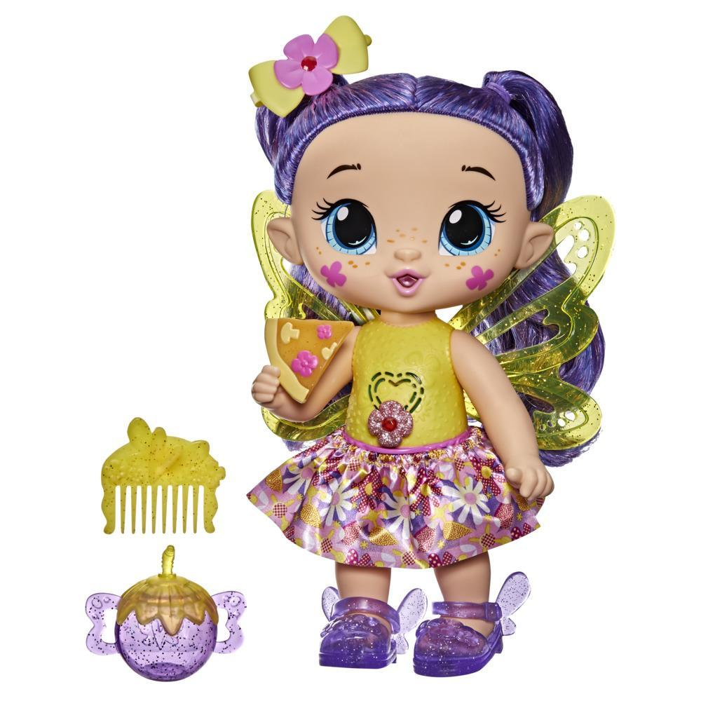 Baby Alive GloPixies Doll, Siena Sparkle, Glowing Pixie Toy for Kids Ages 3 and Up, Interactive 10.5-inch Doll