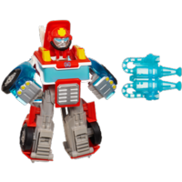 PLAYSKOOL HEROES TRANSFORMERS RESCUE BOTS Energize Heatwave the Fire-Bot Figure