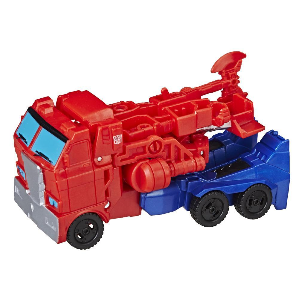 Transformers Cyberverse Action Attackers: 1-Step Changer Optimus Prime Action Figure Toy