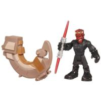 PLAYSKOOL HEROES STAR WARS JEDI FORCE Darth Maul and Sith Speeder Figure 2 Pack