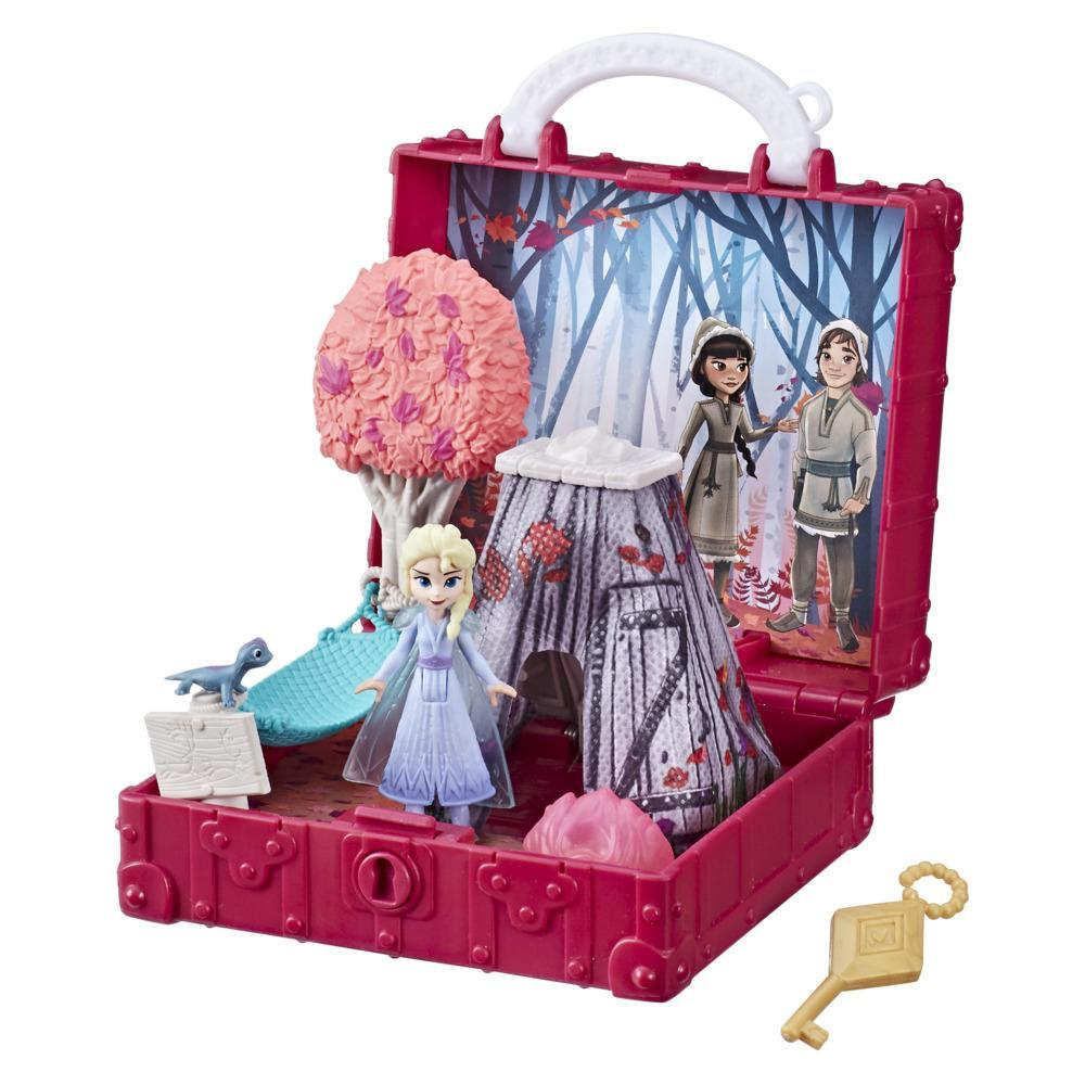 Disney Frozen Pop Adventures Enchanted Forest Set Pop-Up Playset With Handle, Including Elsa Doll