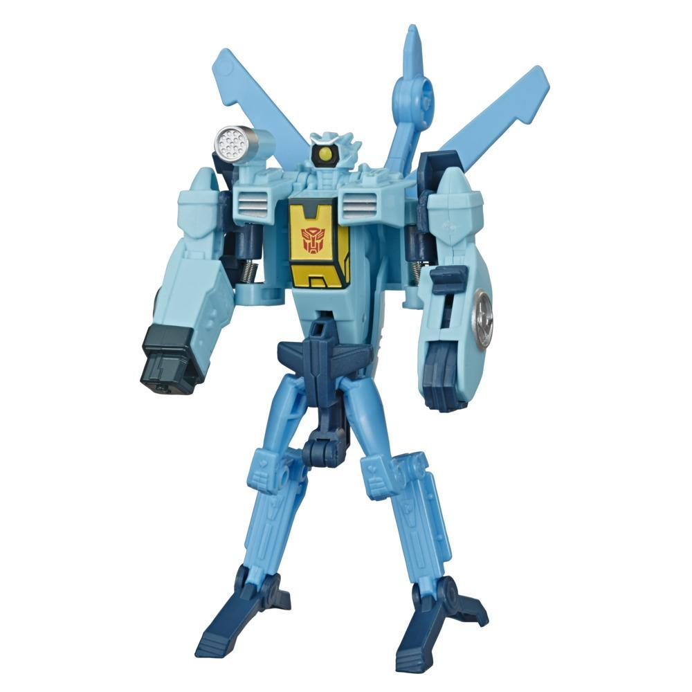 Transformers Toys Cyberverse Action Attackers: 1-Step Changer Autobot Whirl Action Figure, Action Attack Move. 4.25-inch
